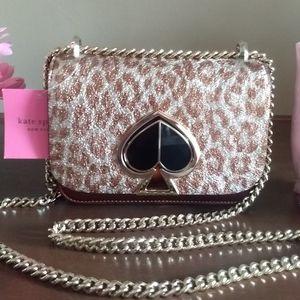 ♠️Kate Spade Nicola Leopard Twist Lock Bag